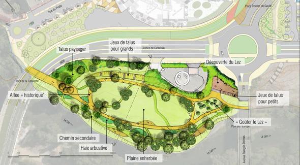 Les castelnauviens ont choisi un projet d'aménagement pour les berges du Lez