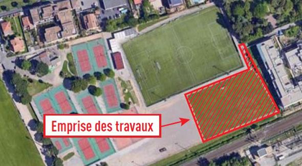 Un terrain de football pour la plaine sportive Jean Fournier
