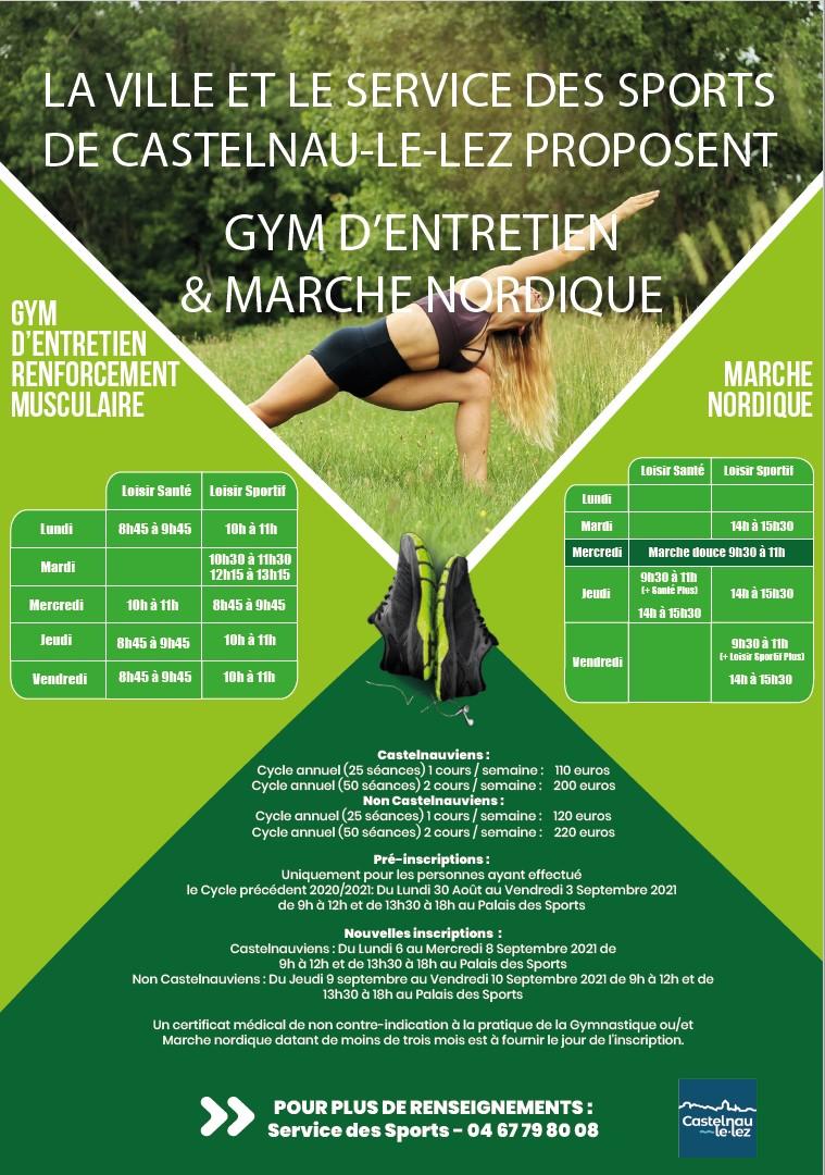 Gym et marche nordique : le service des Sports vous attend !