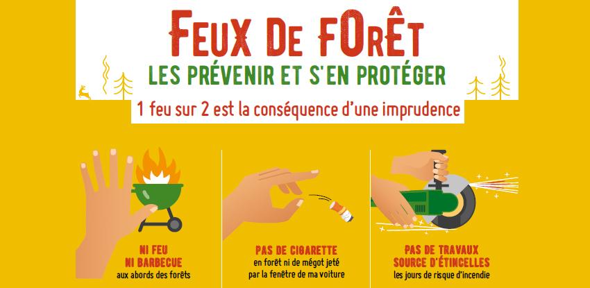 Feux de forêt : consignes de sécurité
