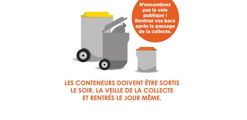 Après la collecte, rentrons nos containers !