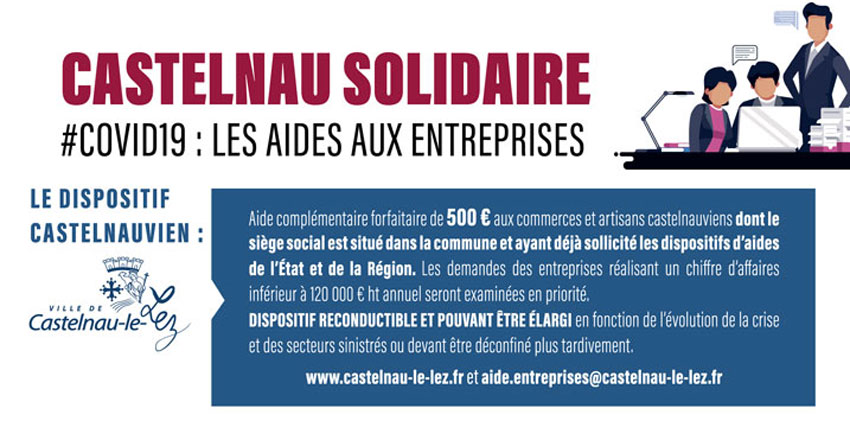 [COVID-19] Castelnau solidaire avec ses commerçants et artisans MAJ 22/05/20