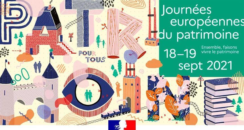 Journées européennes du patrimoine le 18 et 19 septembre 2021