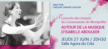 Concerts des chœurs du Conservatoire de Montpellier