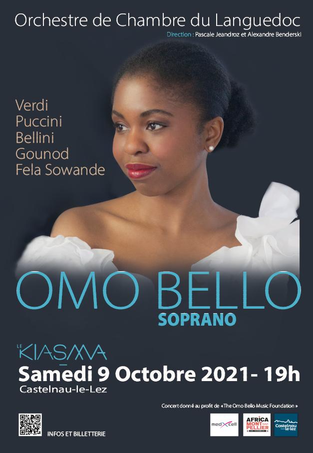 Concert de l'Orchestre de Chambre du languedoc & Omo Bello
