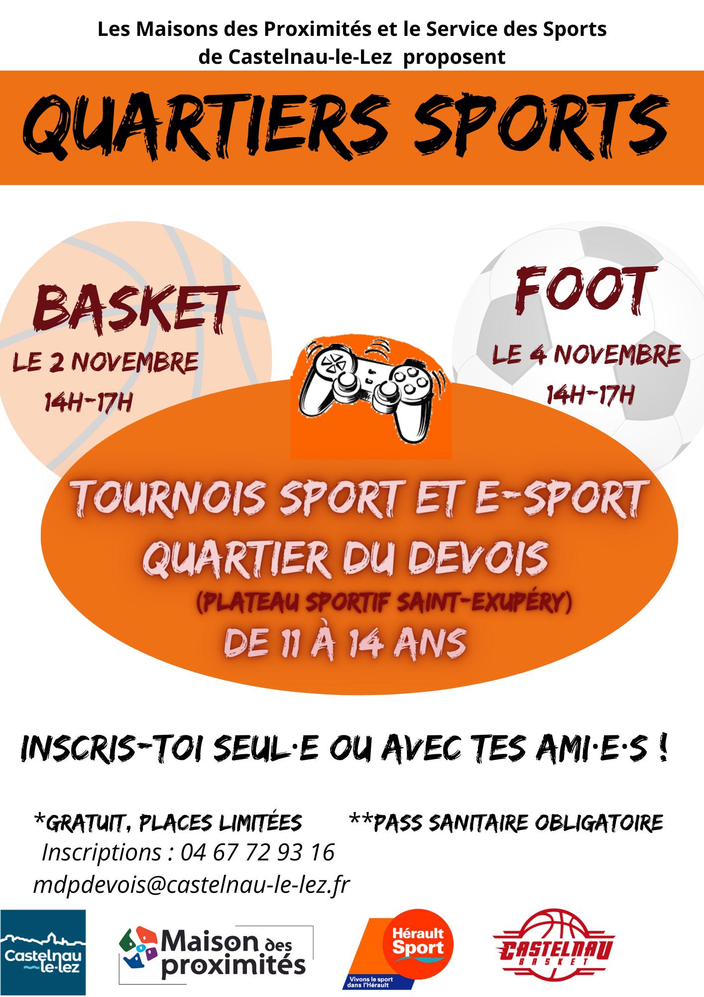 Tournois sport et e-sport au plateau sportif Saint-Exupéry